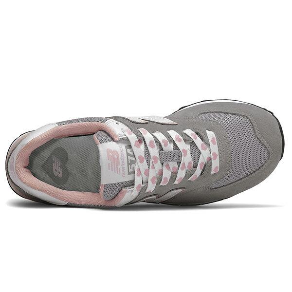 Shoestw【WL574VDG】NEW BALANCE NB574 運動鞋 Wide 愛心 灰粉紅 女生尺寸 2
