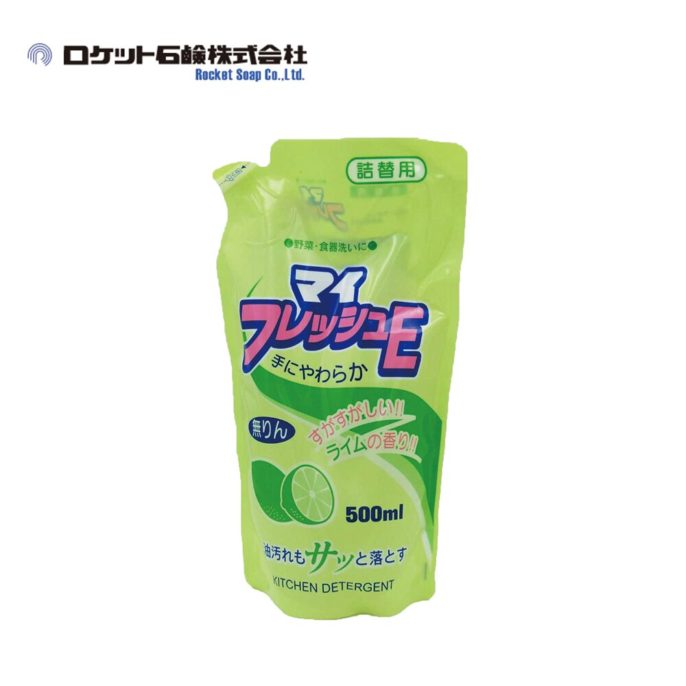 【日本Rocket】My Fresh蔬果碗盤洗潔精-萊姆清香補充包 500ml