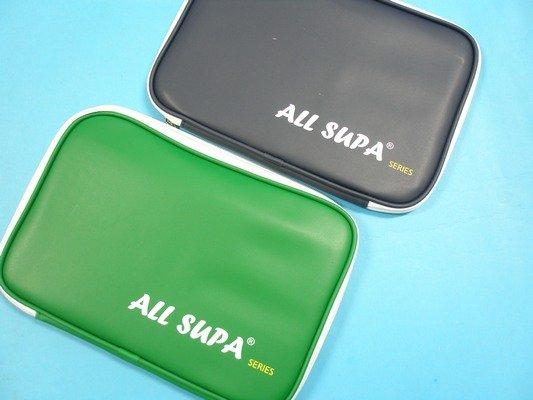 ALL SUPA桌拍袋 PVC方形桌球拍袋 (全霸)/一個入{促220}~可裝雙支入