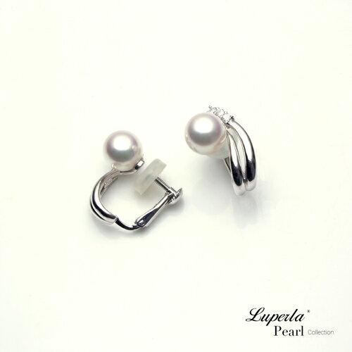 大東山珠寶 星光 頂級真鑽天然淡水珍珠14K白金耳環 夾式 3