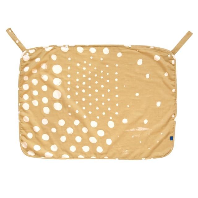 【安琪兒】【NAOMI ITO】多功能波點紗布巾(棕) 0