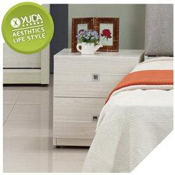 床頭櫃【YUDA】克里斯 雪杉白 床頭櫃/床邊櫃/小矮櫃 J8F 060-2