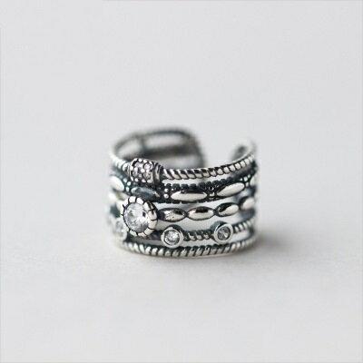 925純銀戒指開口戒~民族風格多層編織七夕情人節 女飾品73dt69~ ~~米蘭 ~