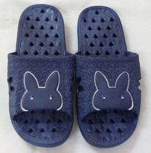 JG~藍色兔頭男女拖鞋洞洞拖鞋男拖鞋尺寸:27.5公分室內外拖鞋不會硬梆梆,一體成型,防水防滑洞拖。