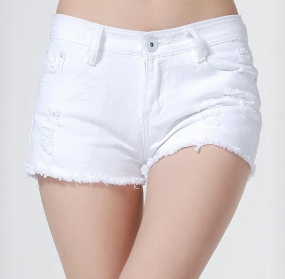 夏百搭破洞白色,全棉牛仔短褲熱褲 (3色,6碼) 【OREAD】 0