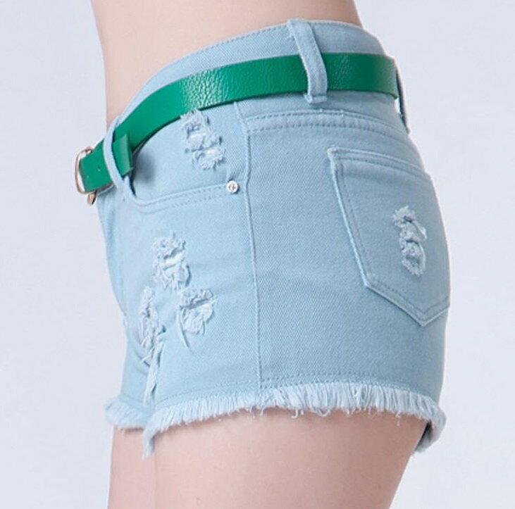 夏百搭破洞白色,全棉牛仔短褲熱褲 (3色,6碼) 【OREAD】 2