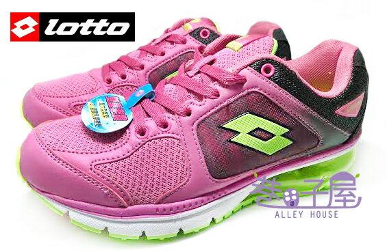 【巷子屋】義大利第一品牌-LOTTO樂得 女款雙重避震炫彩氣墊運動慢跑鞋 [2177] 粉紫 超值價$690