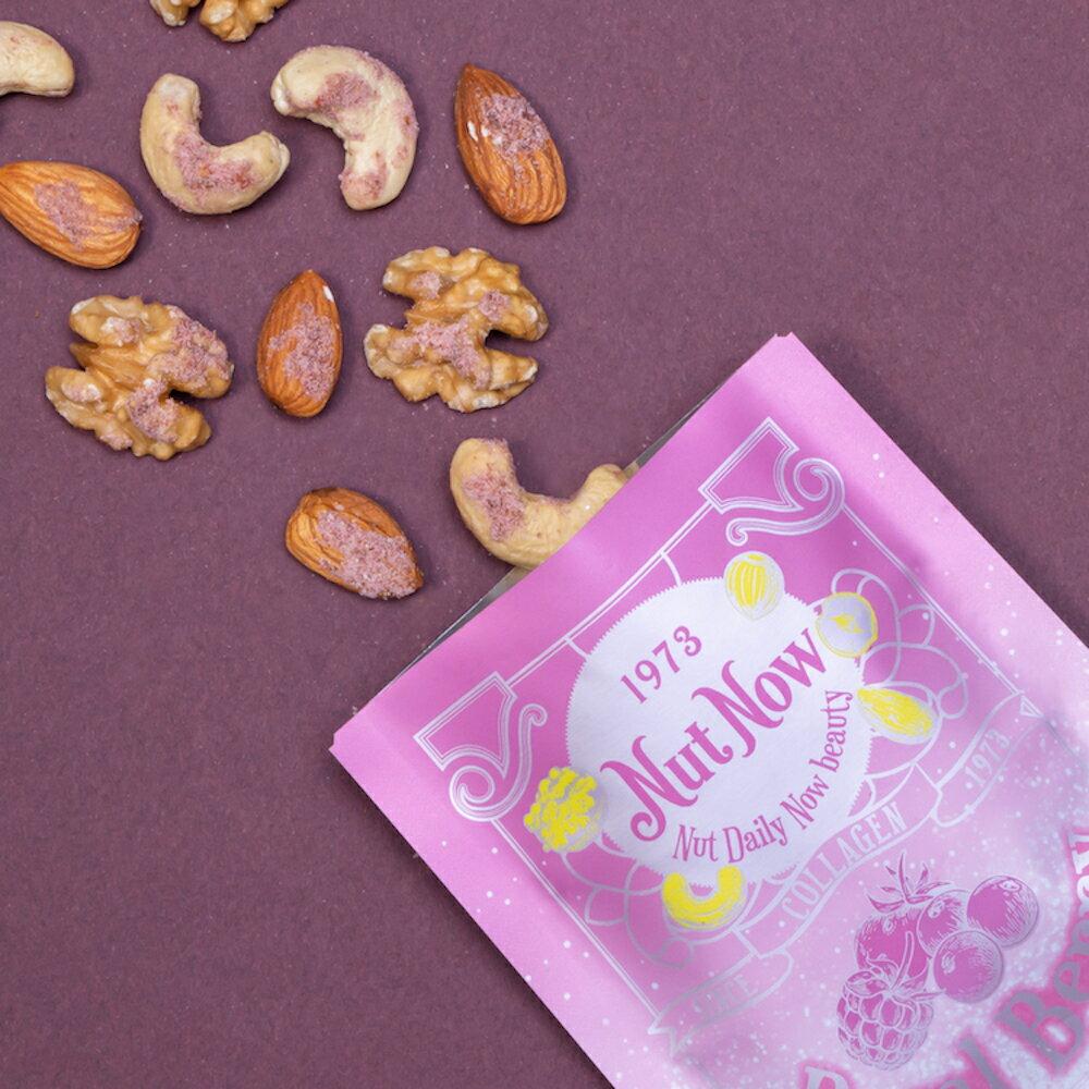 [母親節綜合組]膠原蛋白綜合堅果 30g/包 原味豆奶 皇家莓果 宇治抹茶 法式可可[Nut Now娜娜堅果]