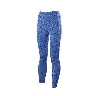 [陽光樂活] 美津濃MIZUNO 保暖舒適女休閒緊身褲 D2TB573422 (藍) 混色藍