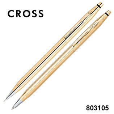 CROSS高仕ClassicCentury經典世紀系列80310518K純金原子筆+自動鉛筆組