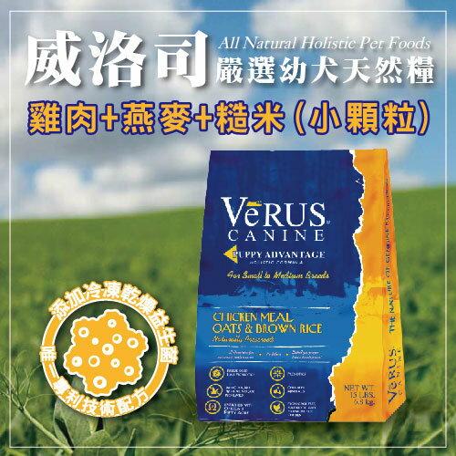 ~短效良品~美國 威洛司VeRUS 幼犬天然糧 雞肉.燕麥.糙米 小顆粒 5LB  磅~