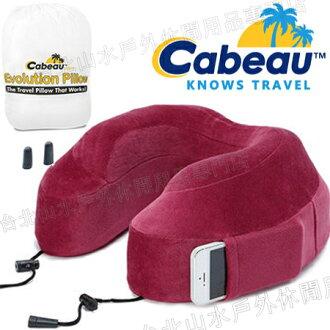 Cabeau 旅行用記憶頸枕/U型枕/旅行/長途/坐車旅遊枕/飛機靠枕/旅行枕/旅行頸枕 枕頭套可拆洗 紅