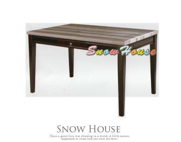 ╭☆雪之屋居家生活館☆╯AA741-03316灰線條石面餐桌飯桌(DIY自組)兩款可選