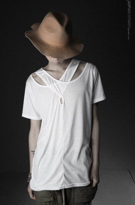 韓國 開叉上衣 燕尾上衣 剪裁 上衣 演出 美髮 師 藝人 背心 前短後長 立體剪裁 短袖