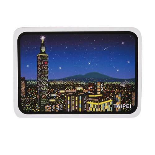 【MILU DESIGN】+PostCard>>台灣旅行明信片-台北夜景/明信片(台北/風景/101/象山/TAIPEI Night Scenes)