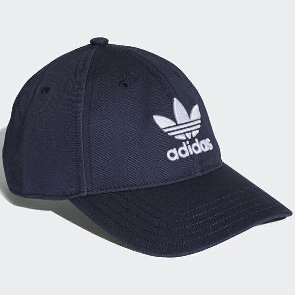 現貨在庫AdidasTREFOILCLASSICCAP帽子老帽休閒三葉草可調整深藍【運動世界】CD6973