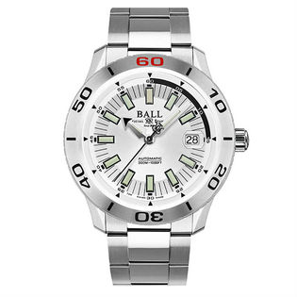 大高雄鐘錶城:BALL波爾錶DM3090A-S3J-WHFireman專業潛水腕錶白面42mm
