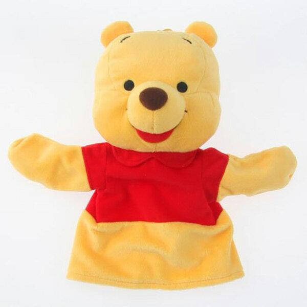 【小熊維尼手偶娃娃】小熊維尼 手偶 娃娃 Disney  日本正版 該該貝比日本精品