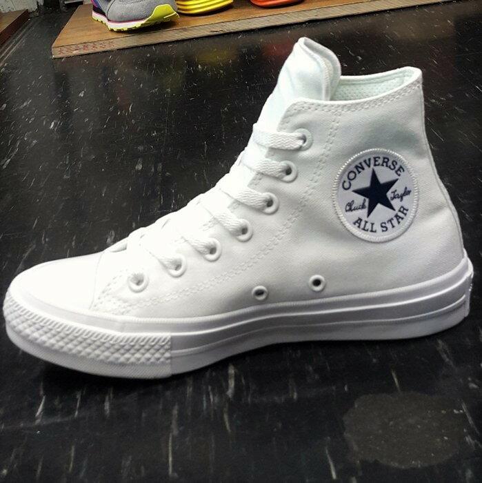 Converse Chuck Taylor All Star II 2代 高筒 白色 全白 帆布 LUNARLON 鞋墊 150148C【12/1-31 單筆滿2000結帳輸入序號 XmasGift-..