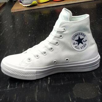 Converse Chuck Taylor All Star II 2代 高筒 白色 全白 帆布 LUNARLON 鞋墊 150148C