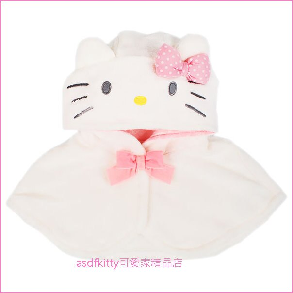 asdfkitty可愛家☆KITTY兒童用有肩領造型帽-拍照.變裝.好用-日本正版商品