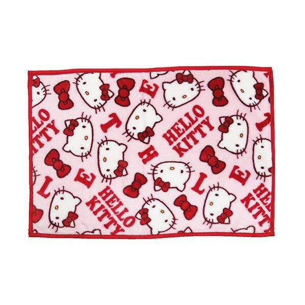 【真愛日本】17103100002 毛毯70*100cm-KT紅結大頭粉 三麗鷗 Hello Kitty凱蒂貓