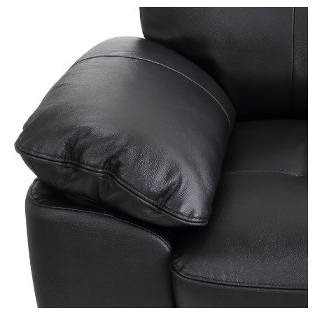 ◎(OUTLET)半皮2人用沙發 STONE BK 福利品 NITORI宜得利家居 3
