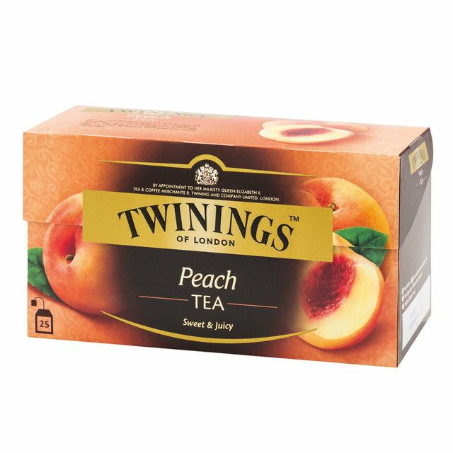 TWININGS唐寧茶- 香甜蜜桃茶包 2g*25入/盒