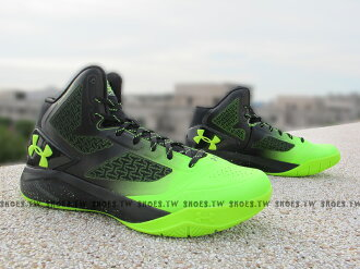 Shoestw【1258143-005】UNDER ARMOUR UA 籃球鞋 黑螢光綠 CURRY 8月新款