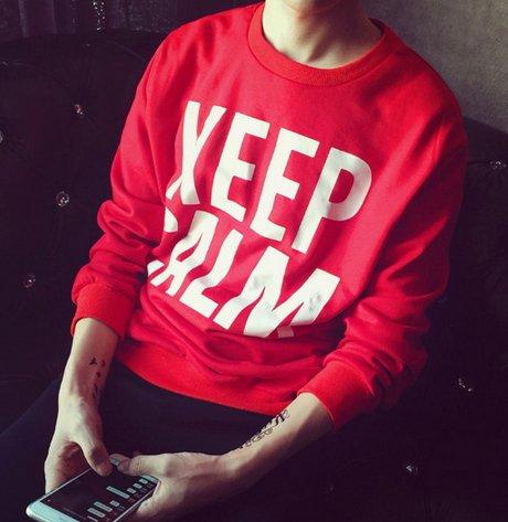 韓國 冷靜 標語 字體 上衣 大學T KEEP CLAM CAMP 非便宜CACO