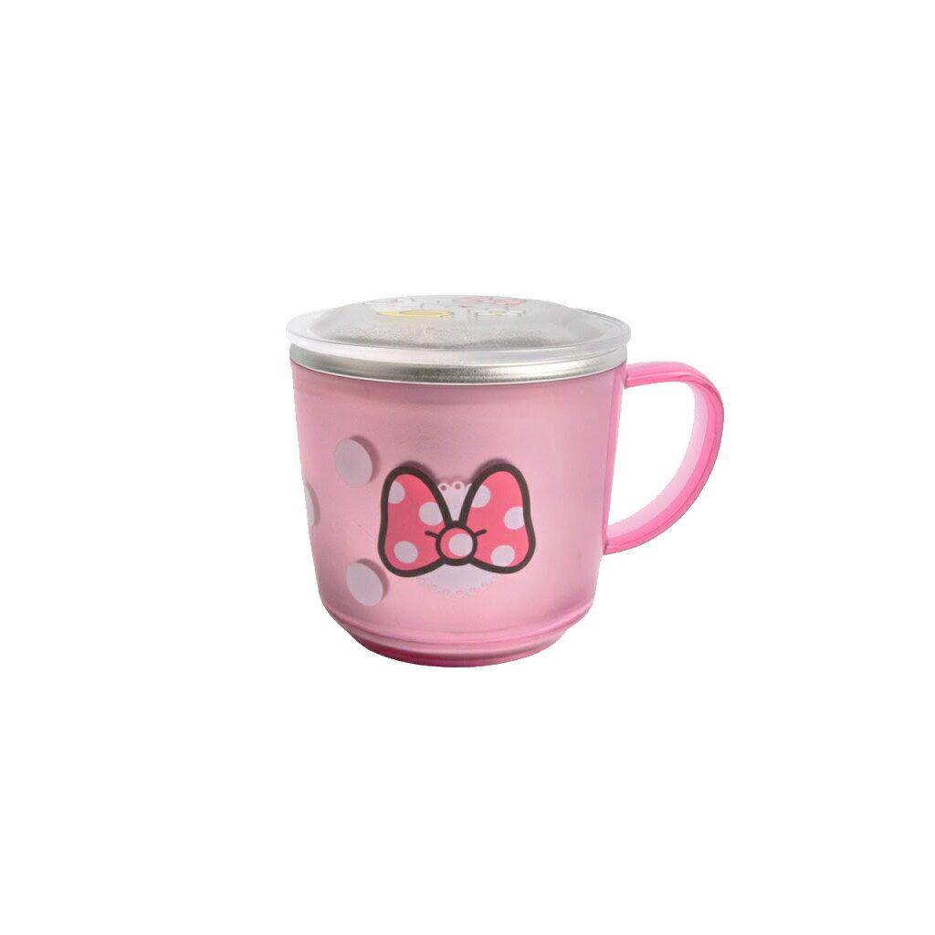韓國原裝進口【Lilfant】 兒童防滑不鏽鋼水杯附蓋子 (米妮款)