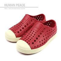 native 輕量懶人鞋、休閒防水鞋到native JEFFERSON CHILD 洞洞鞋 深紅 小童 no396