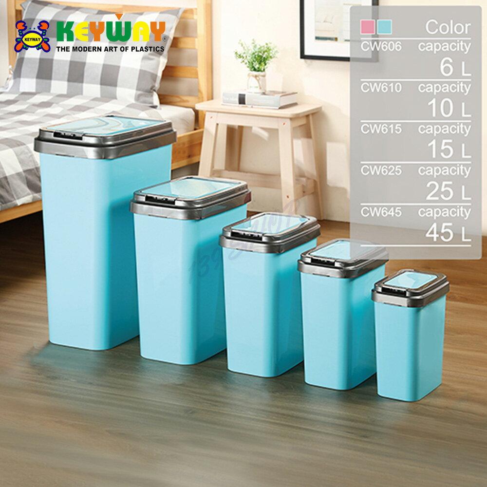 KEYWAY 聯府 CW645 CW-645 可潔押式垃圾桶(45L)【139百貨】