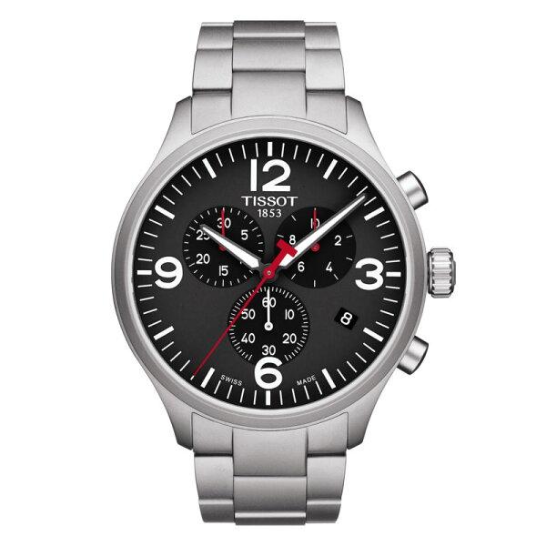 TISSOT天梭錶CHRONOXLT1166171105700時尚計時腕錶黑面45mm
