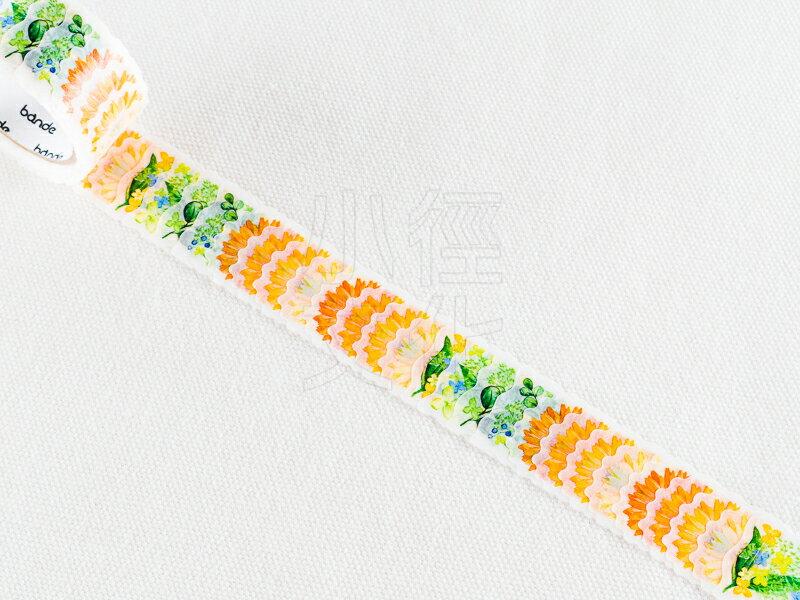 *小徑文化*日本進口 NICO Bande 和紙貼紙 迷你花朵 系列 - 非洲菊_橙色 ( BDA182 )