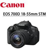 Canon佳能到★分期零利率★ 送32g卡+送副廠專用鋰電+快門線+遙控器+靜電 抗刮保護貼 +清潔好禮套組   Canon EOS 700D 18-55mm  STM 標準鏡組 單鏡組 數位單眼相機    彩虹公司貨