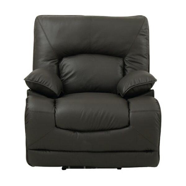 ◎(OUTLET)半皮1人用電動可躺式沙發 HIT DBR 福利品 NITORI宜得利家居 1