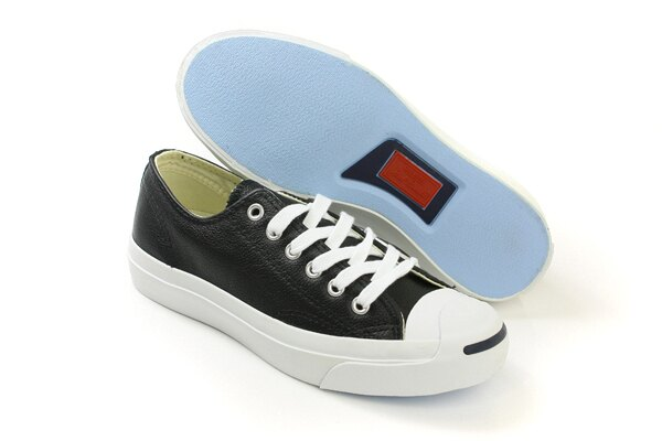 CONVERSE Jack Purcell Leather 休閒鞋 皮革 低筒 開口笑 黑色 男女鞋 UNISEX 1S962 no943 4