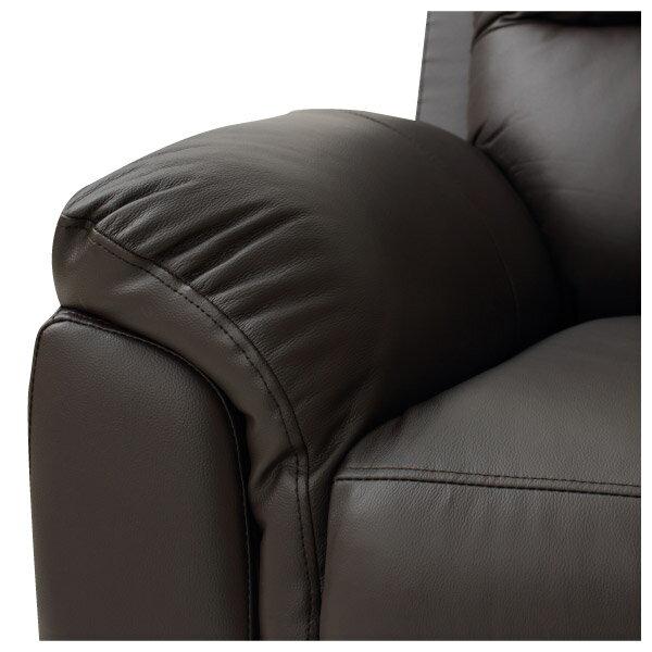 ◎(OUTLET)半皮3人用沙發 N-BEAZEL DBR 福利品 NITORI宜得利家居 5
