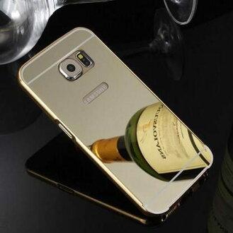 【清倉】三星 S6 Edge Plus G9280 電鍍金框帶鏡面背板 Samsung S6 Edge+ 手機金屬保護套 手機殼