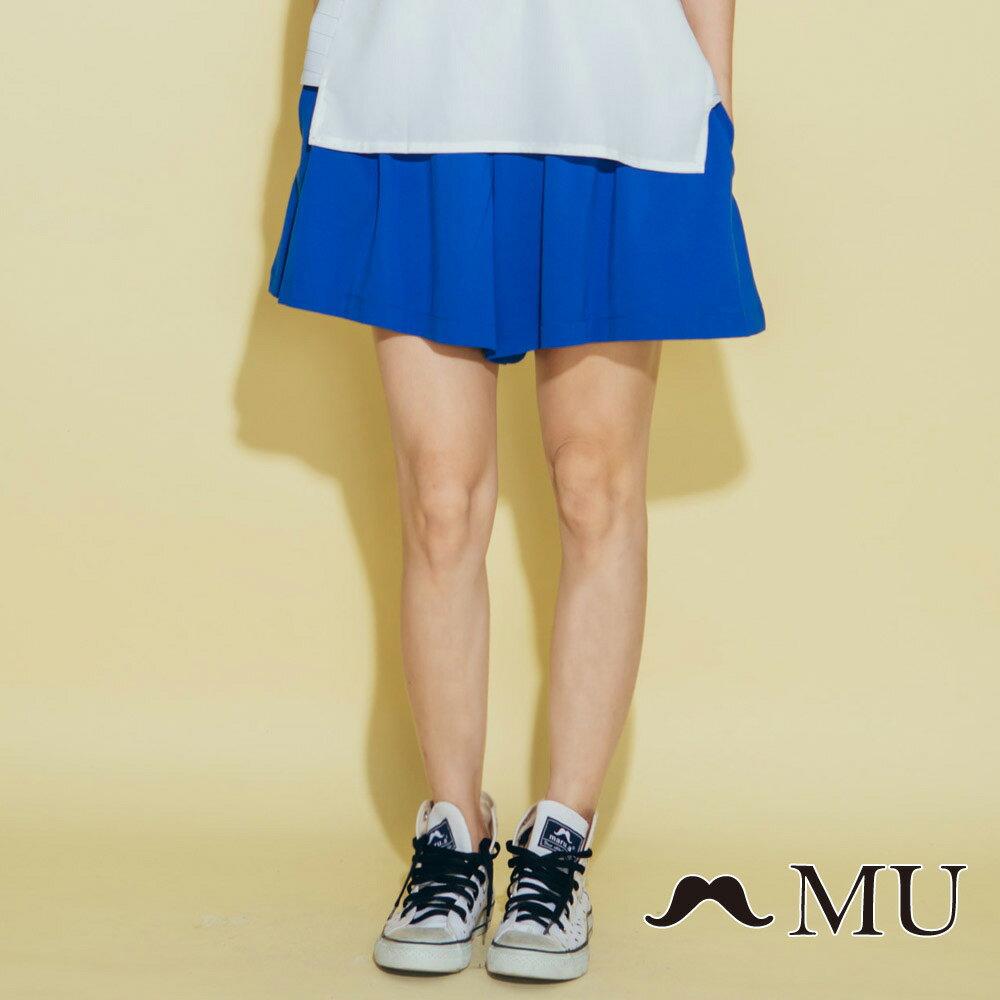 【MU】腰部LOGO刺繡刺繡短寬褲  7325162 1