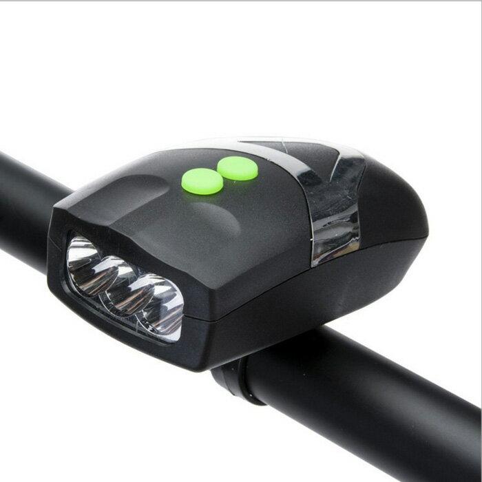 糖衣子輕鬆購【BA0077】多功能自行車前頭燈LED強光自行車裝備自行腳踏車安全警示燈
