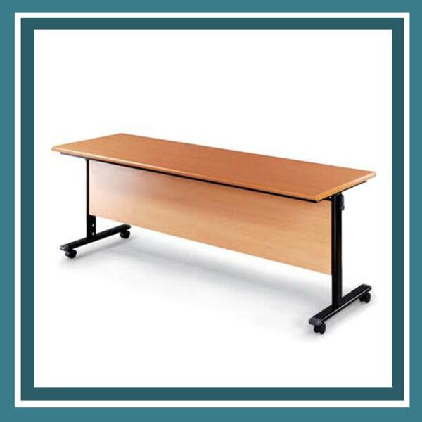 『商款熱銷款』【辦公家具】HBW-1845H黑桌架木檔板會議桌辦公桌書桌桌子