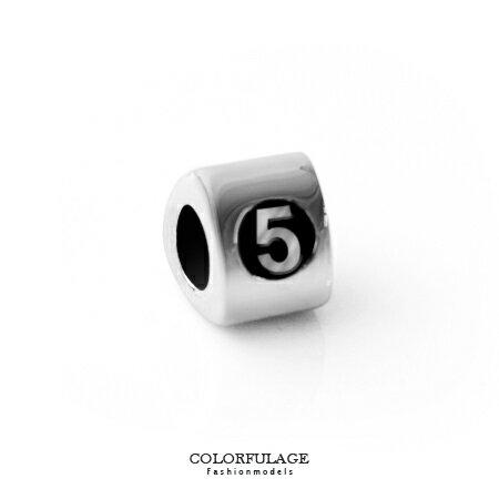 字母串珠手鍊 手作 數字5手環 柒彩年代~NT5~CHARMS