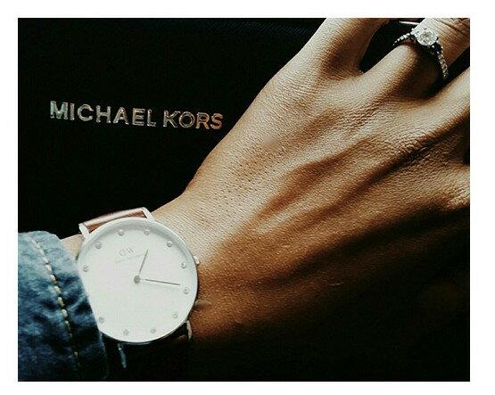 瑞典正品代購 Daniel Wellington 0960DW  銀 玫瑰金  真皮 錶帶 男女錶 手錶腕錶 34MM 3