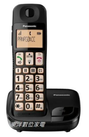 國際牌 Panasonic 大按鍵大螢幕數位無線電話 KX-TGE110TWB 公司貨