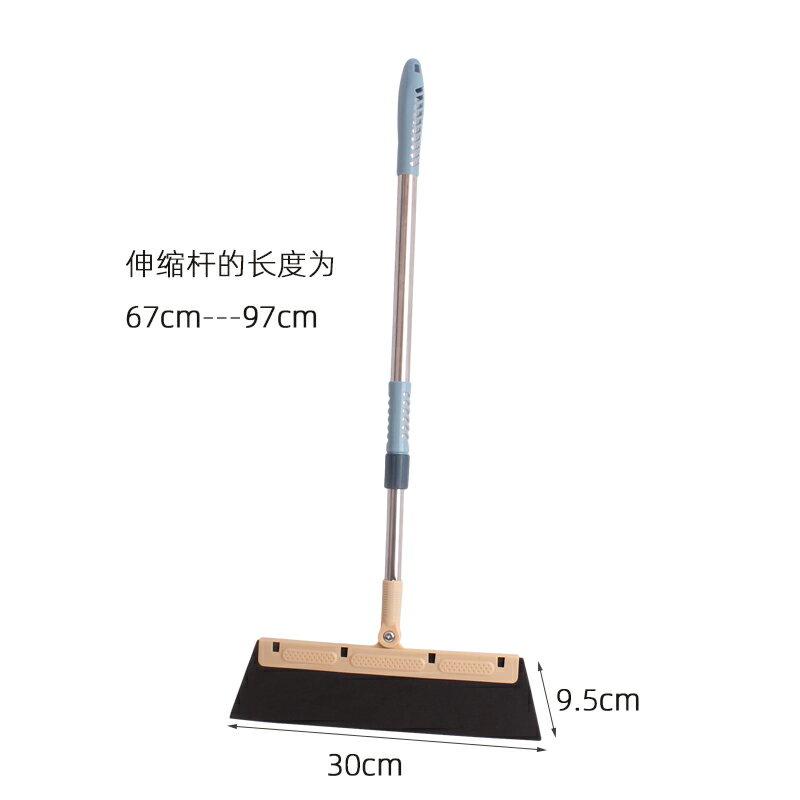 擦窗器 玻璃刮拖把掃把家用干濕兩用加長加寬40CM魔術掃把不粘頭發刮水器『XY14051』