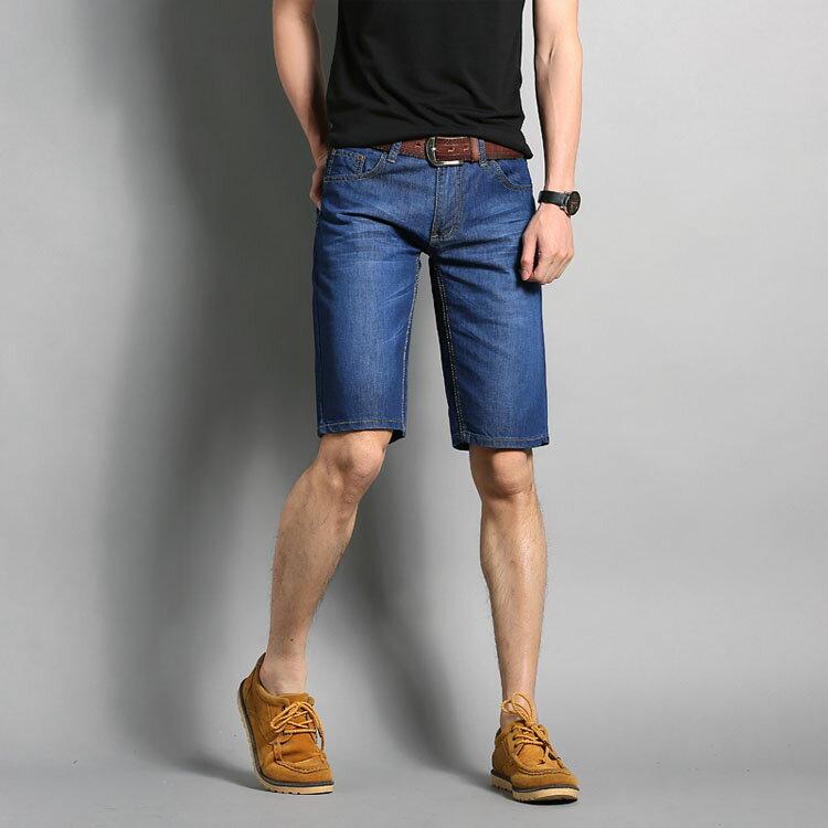 經典潮流素色簡約百搭休閒牛仔短褲 0