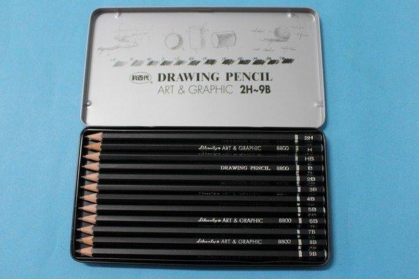 利百代CB-8800 12級專家用繪圖鉛筆12入素描鉛筆(黑桿)/一盒入{定120}