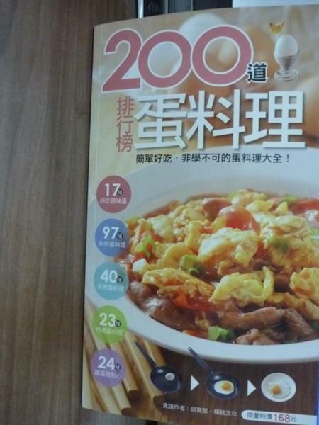 【書寶二手書T8/餐飲_PJH】200 道排行榜蛋料理_邱寶郎